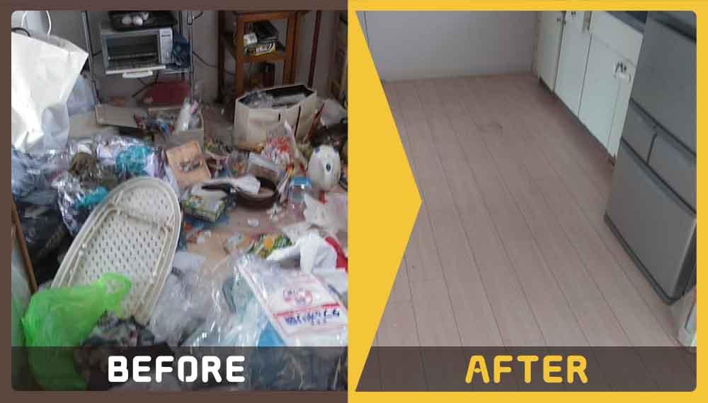 ゴミ屋敷状態になってしまっているキッチンなどの不用品の処理にお困りのお客様からご依頼いただきました。
