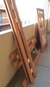 京都市内で本棚、テーブル等回収の写真