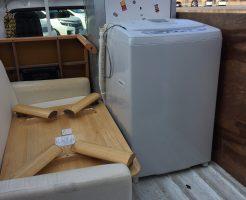 京都市上京区鶴山町で洗濯機など軽トラ1台分程度の不用品処分 施工事例紹介