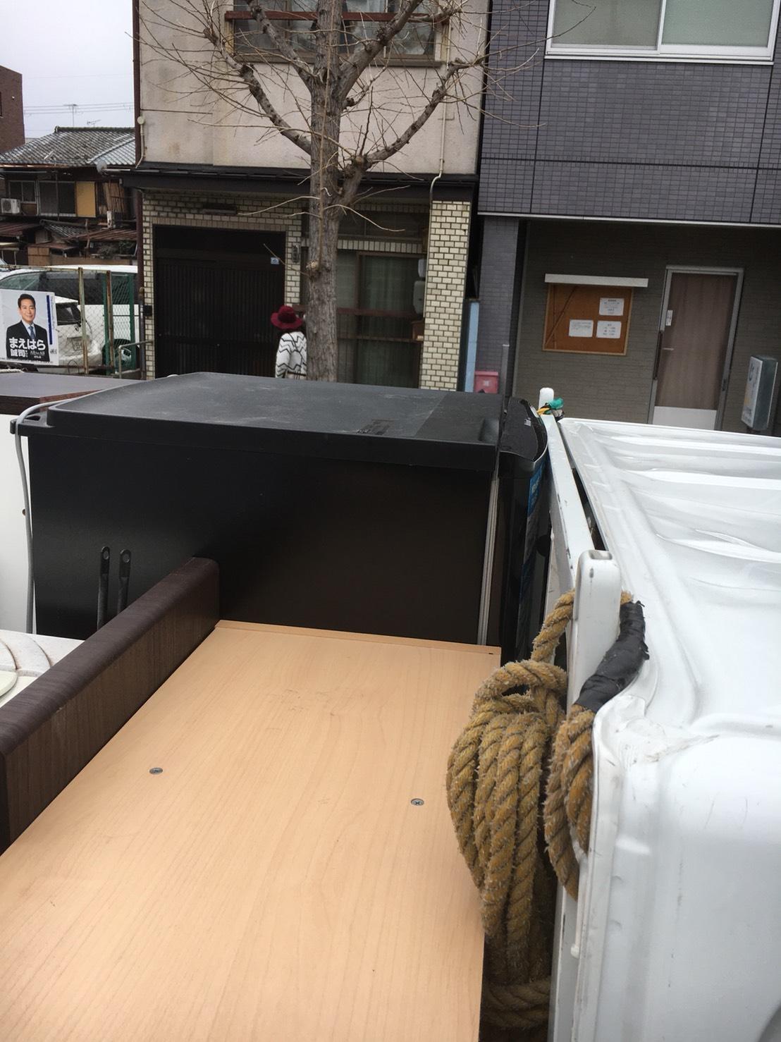 京都市左京区田中南西浦町で軽トラ1杯分の不要品回収 施工事例紹介
