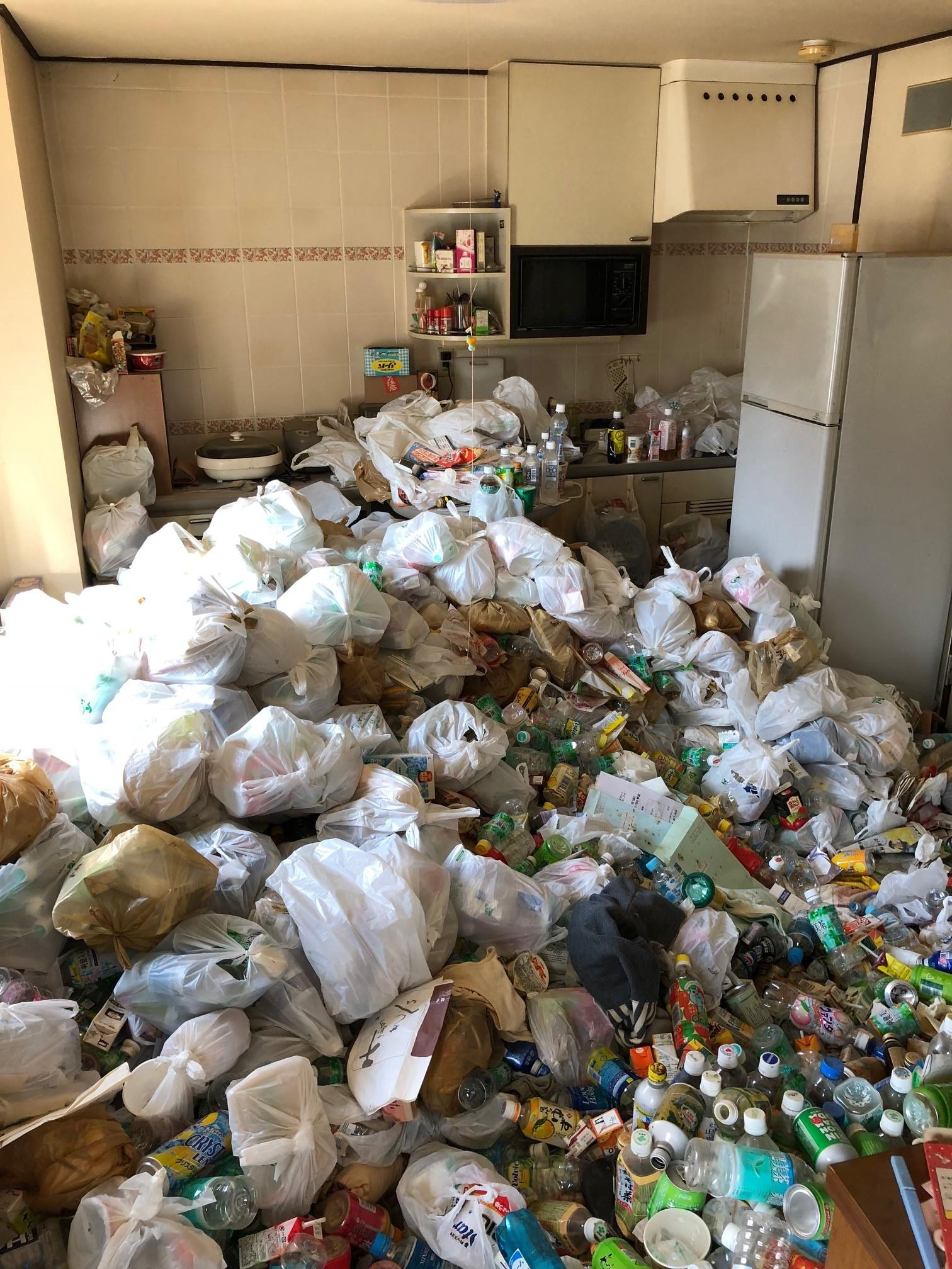 京都市上でお部屋の片付けとゴミ・不用品回収 施工事例紹介