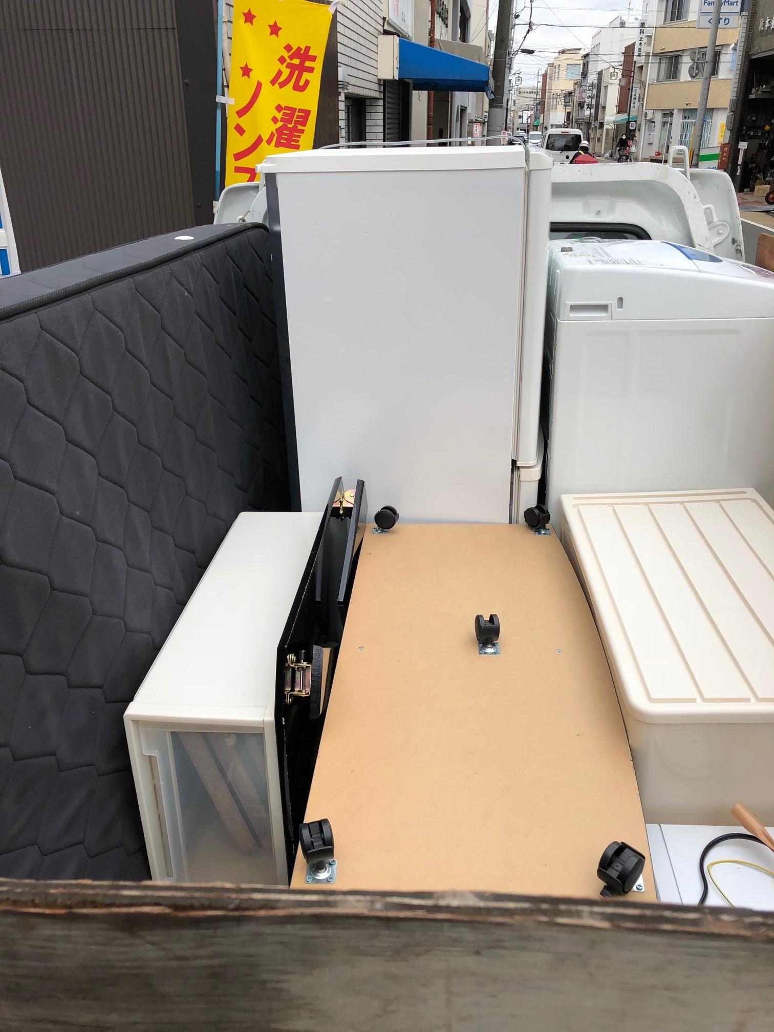 京都市上京区仲之町で冷蔵庫や洗濯機などの不用品回収 施工事例紹介