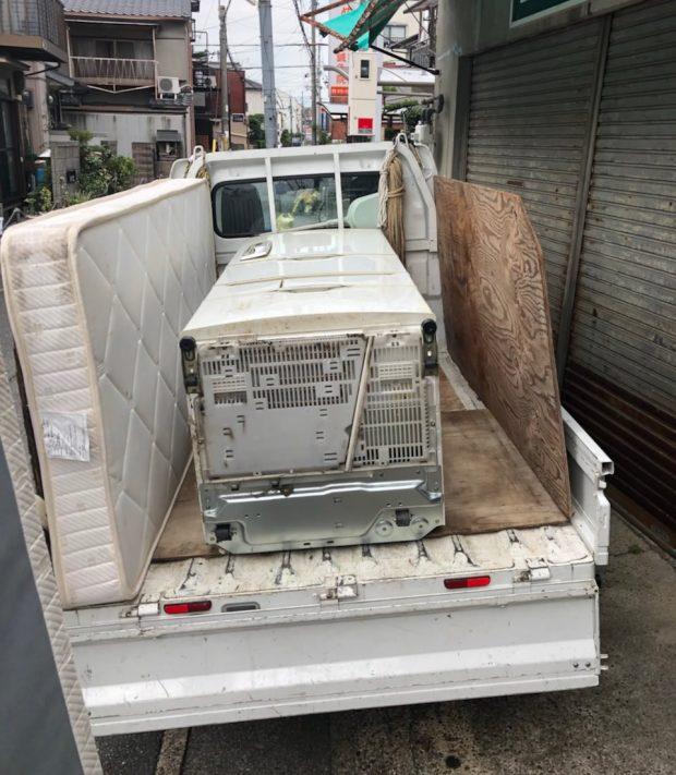 【栄町】電化製品や物置小屋の回収!カード決済の対応に喜んでいただけました。