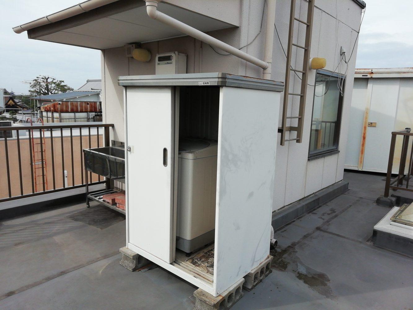白井市にて不用品回収(洗濯機、物置)のご依頼 お客様の声