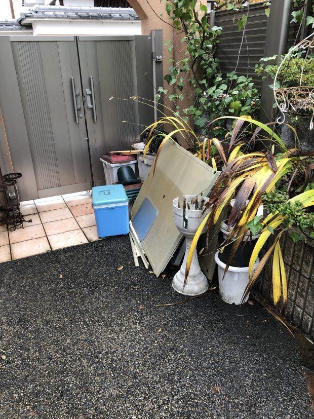 【京都市伏見区】軽トラック1台程度の不用品回収☆たくさんあった不用品をまとめて処分し、片付いたお部屋にご満足いただけました!