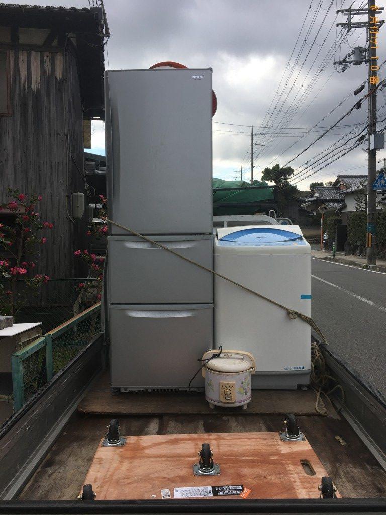 【長岡京市長法寺】冷蔵庫、炊飯器、洗濯機の回収・処分ご依頼
