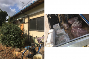 高山村で不用品(ソファー、庭石、庭木など)の回収のご依頼 お客様の声