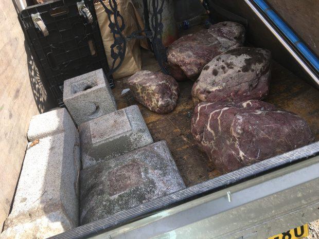【八千代市】庭石などの回収☆予算内で納得のいく作業をしてもらえたとご満足いただけました!
