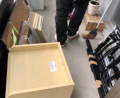 【八幡市】食器棚など軽トラック1台程度の不用品回収☆不用品を素早く一気に処分できた、と大変満足していただきました!