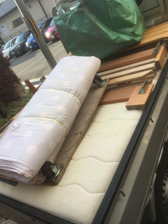 【豊川市】ダブルベッドなどの出張不用品回収・処分ご依頼