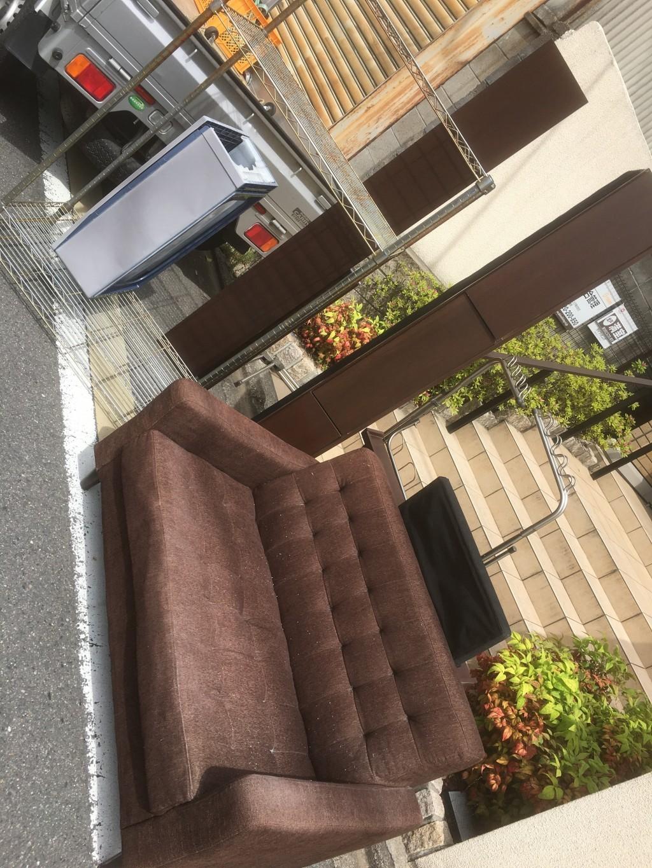 【京都市中京区】ソファーやベッド枠の出張不用品回収・処分ご依頼