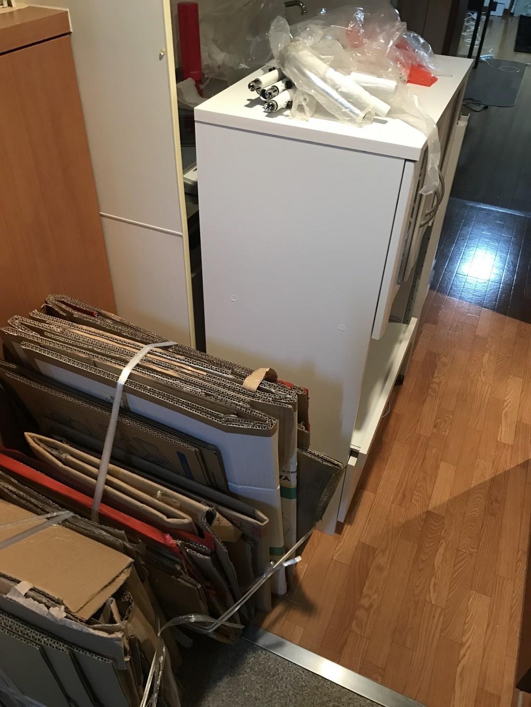 【京都市】テレビ台、洗濯ラックの回収・処分 お客様の声