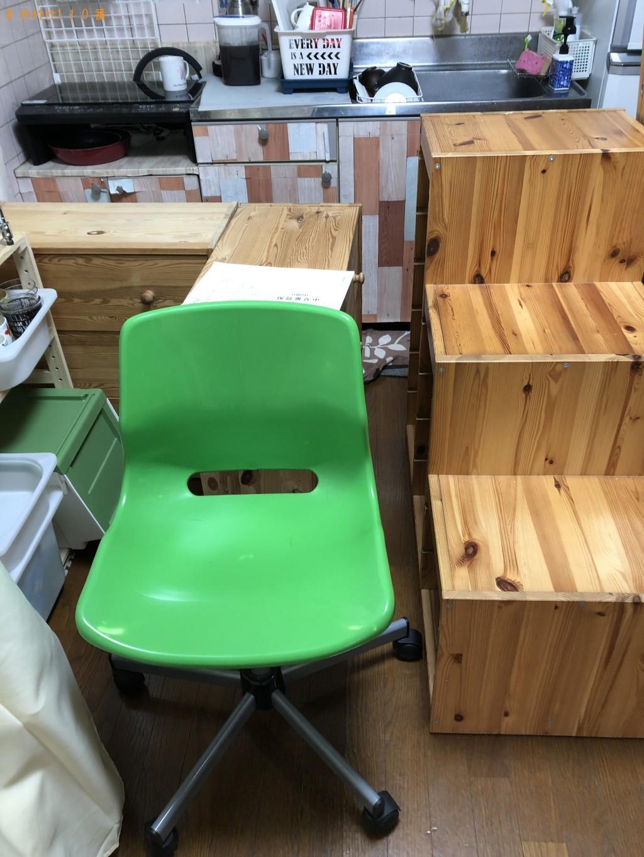 【京都市右京区】収納棚・学習机など回収処分ご依頼 お客様の声