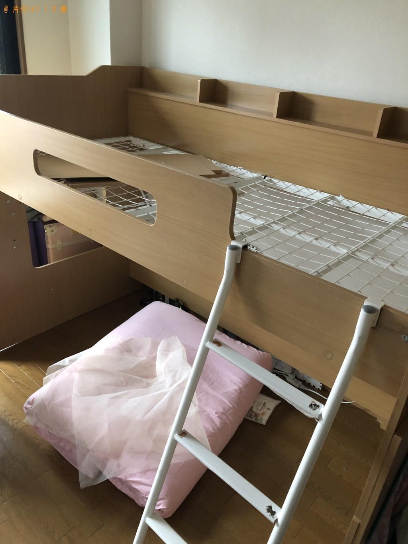 【上尾市】ロフトベッドと机と椅子の出張回収・処分ご依頼