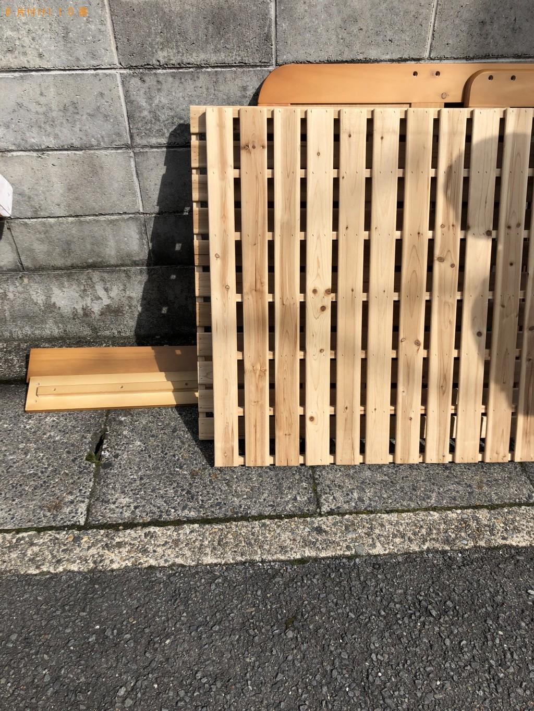 【京都市北区】シングルベッドフレームの処分 お客様の声