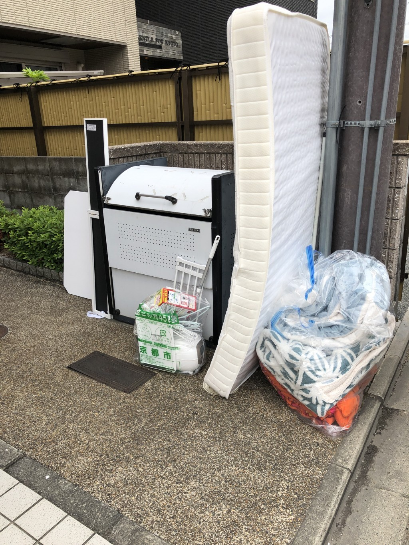 【京都市伏見区】マットレス、スタンドミラー、家庭ごみの回収・処分 お客様の声