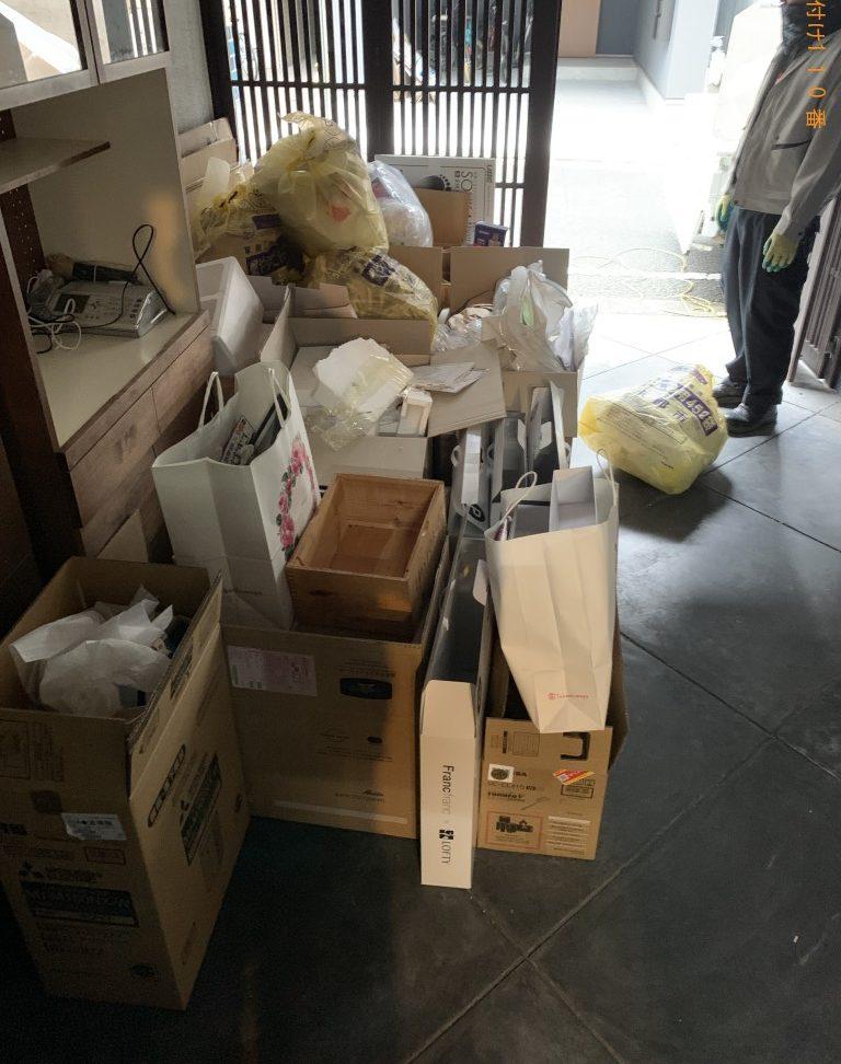 【日高市】軽トラック1台分程度の出張不用品回収・処分ご依頼 お客様の声