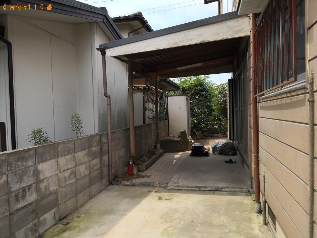 【八幡市】ガレージの回収・処分 お客様の声