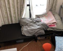 【京都市中京区】テレビ、折り畳みベッド、布団などの出張不用品回収・処分ご依頼