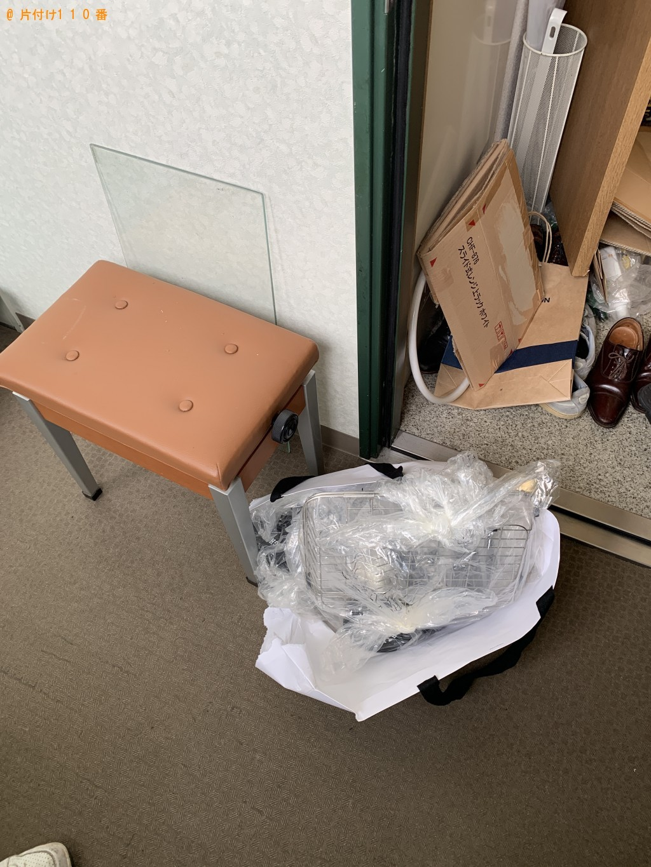 【京都市南区】本棚、テーブル、電子ピアノなどの出張不用品回収・処分ご依頼