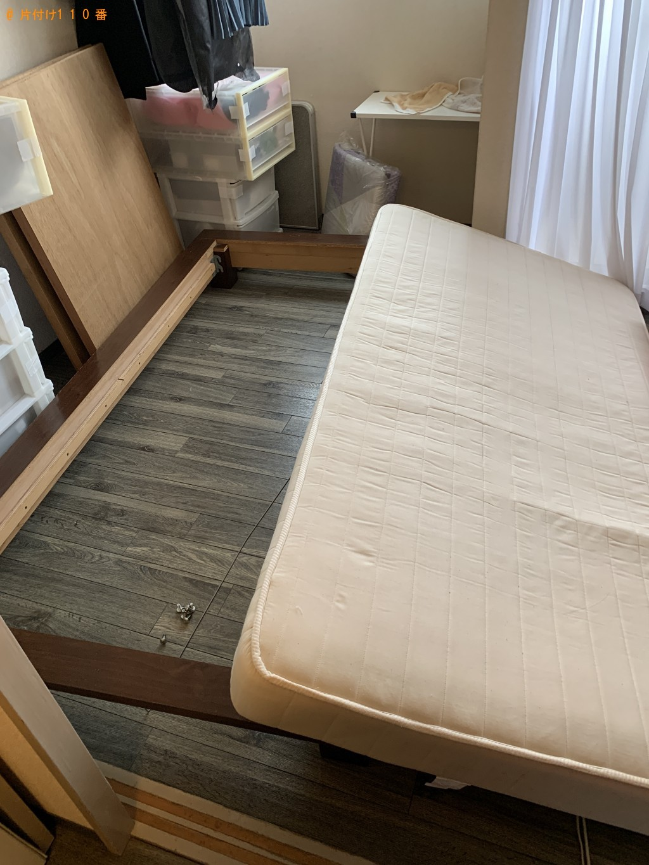 【京都市下京区】シングルベッド1点の回収・処分 お客様の声