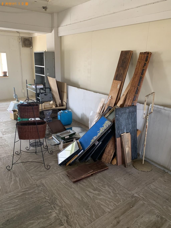 【京都市左京区】棚、木材、扇風機などの出張不用品回収・処分ご依頼