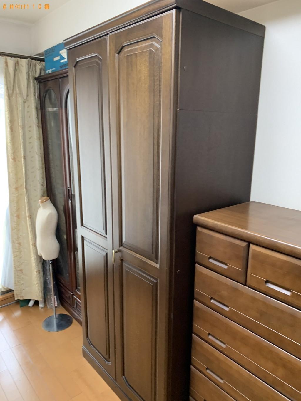 【京都市中京区】シングルベッド、マットレス、タンスの回収・処分 お客様の声