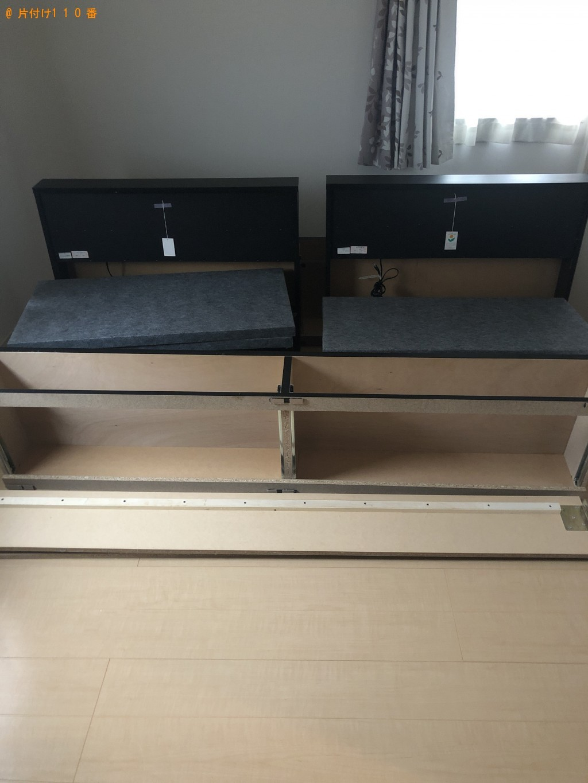 【乙訓郡大山崎町】シングルベッド2台回収ご依頼 お客様の声