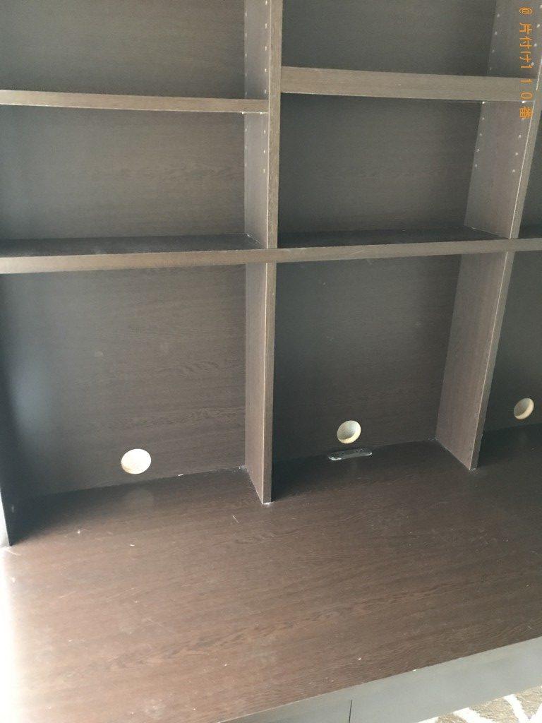 【京都市北区】上下が分かれている学習机の回収・処分ご依頼