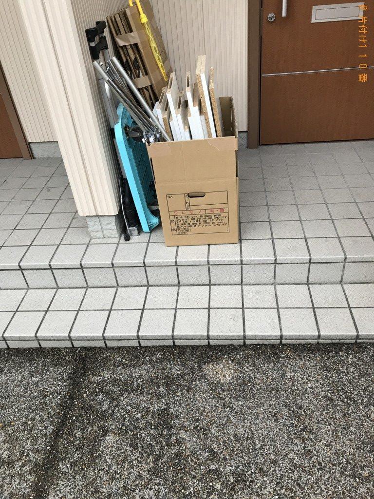 【長岡京市】ガラス戸付き書庫、スチール棚等の回収・処分ご依頼