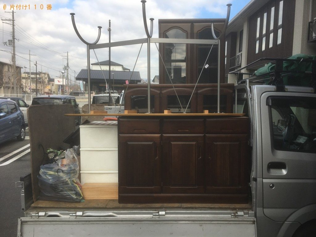 【京都市山科区】ガスコンロ、本棚、食器棚の回収・処分ご依頼