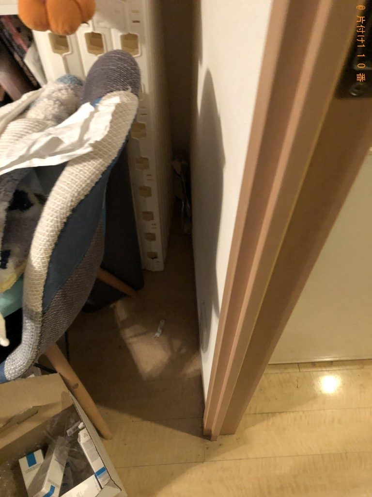 【京都市右京区】電子レンジ、ドレッサー、収納棚の回収・処分ご依頼