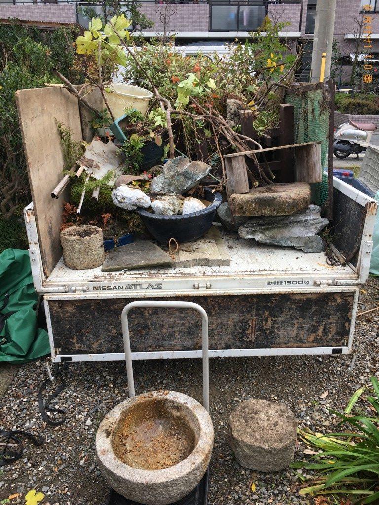 【京都市】庭石、植木鉢の回収・処分ご依頼 お客様の声
