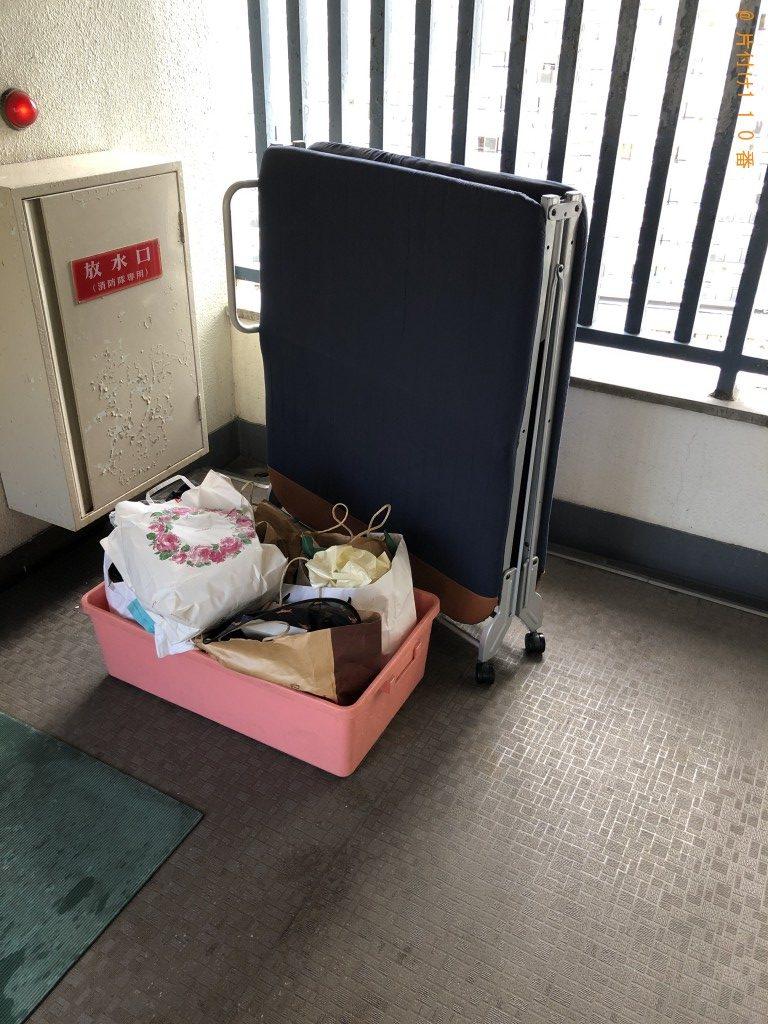 【京都市】折り畳みベッド等の回収・処分ご依頼 お客様の声