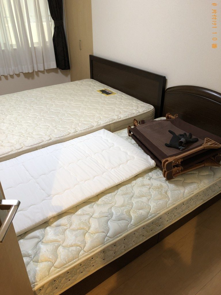 【京都市左京区】シングルベッド、ダブルベッド等の回収・処分ご依頼
