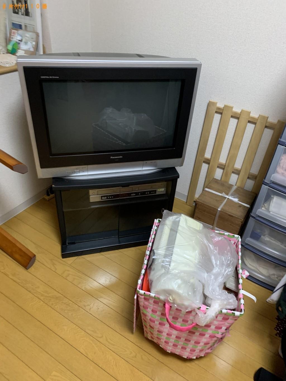 【京都市山科区】婚礼タンス、ブラウン管テレビ、テレビ台などの回収・処分