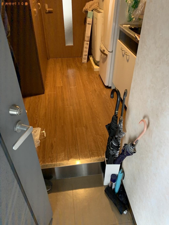 【京都市南区】カウンターテーブル、シングルベッド等の回収・処分