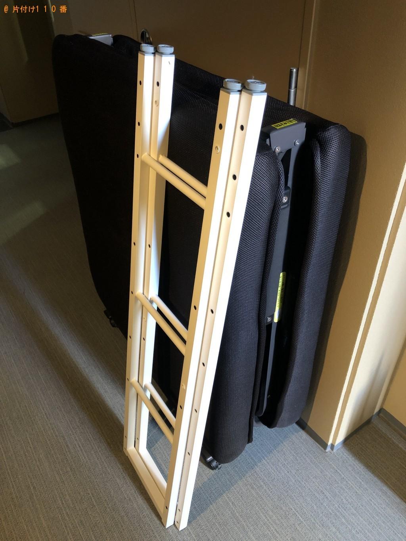 【幕別町】折り畳みベッド、学習机の回収・処分ご依頼 お客様の声