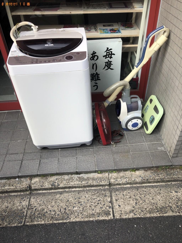 【京都市下京区】洗濯機、掃除機、体重計の回収・処分ご依頼