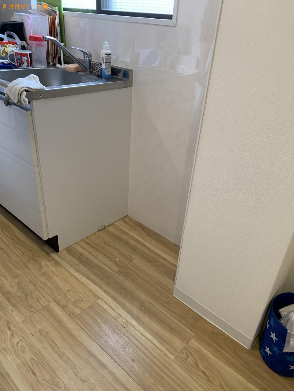 【京都市左京区】冷蔵庫、回転いす、ハンガーラック、棚の回収・処分
