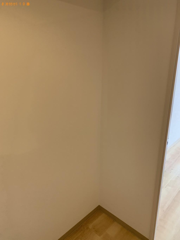 【京都市】食器棚、シングルベッド、学習机、ダンベルの回収・処分