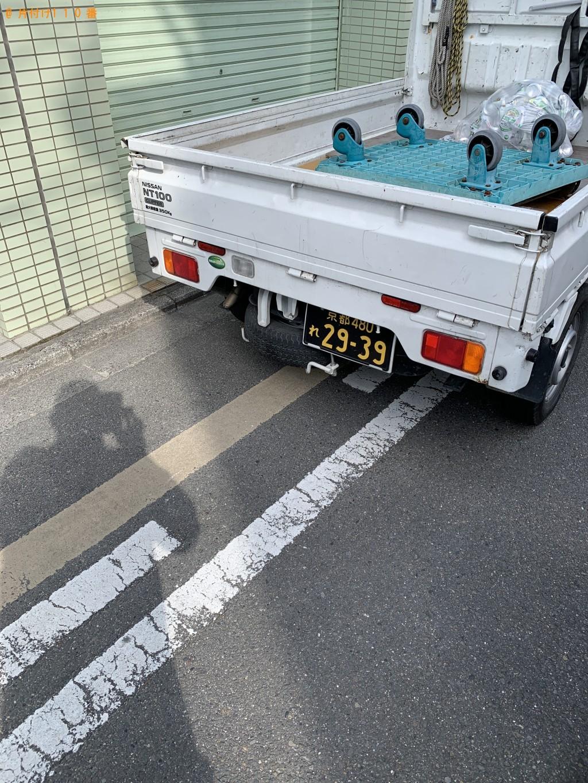 【京都市上京区】洗濯機、収納棚、セミダブルベッドの回収・処分