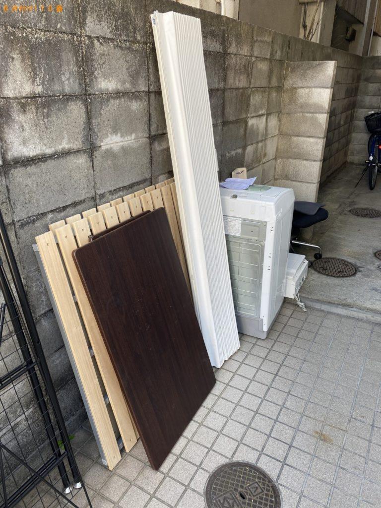 【半田市】遺品整理で洗濯機、プリンター、シングルベッド等の回収・処分ご依頼