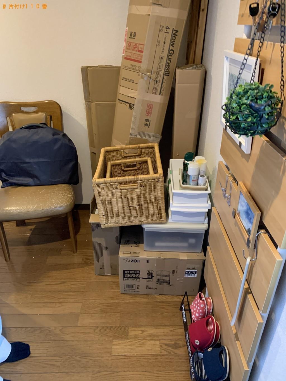 【滝川市】婚礼ダンス、食器棚、椅子、カゴ等の回収・処分