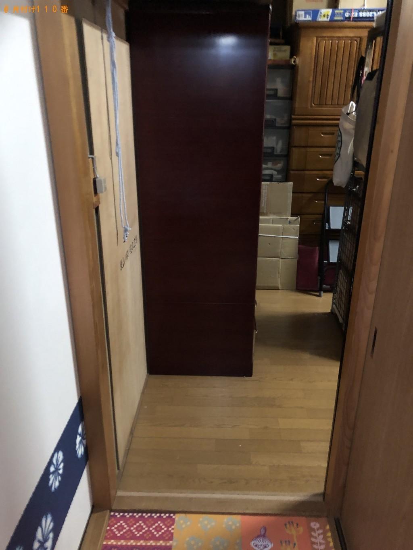 【京都市左京区】整理タンス、金庫の回収・処分ご依頼 お客様の声