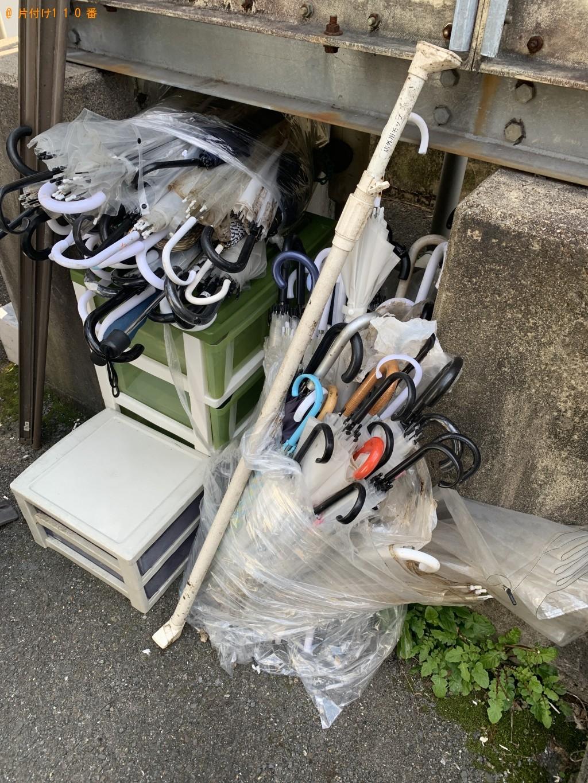 【京都市下京区】傘、三段の収納、プラスチックケース等の回収・処分