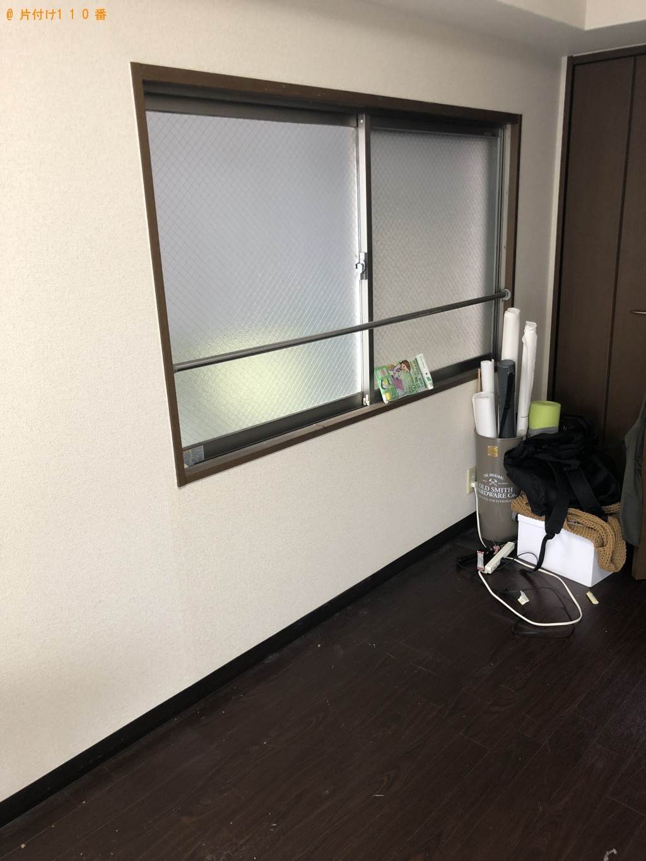 【刈谷市】遺品整理でテレビ台、収納棚、セミダブルベッド、机の回収