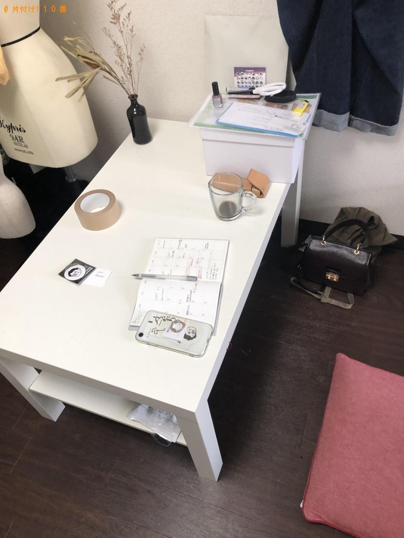 【京都市下京区】テレビ台、収納棚、セミダブルベッド、机の回収
