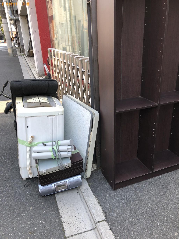 【京都市左京区】洗濯機、本棚、座椅子、ハンガーラック等の回収