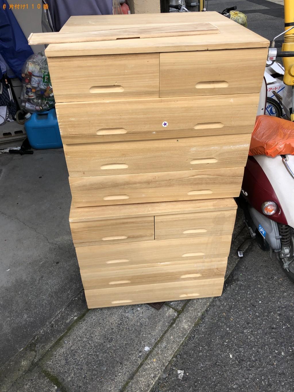 【京都市右京区】ヘルストロン、整理タンスの回収・処分ご依頼